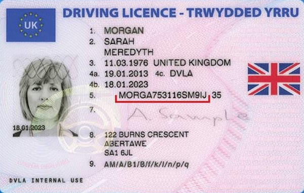 Uk Drivers license